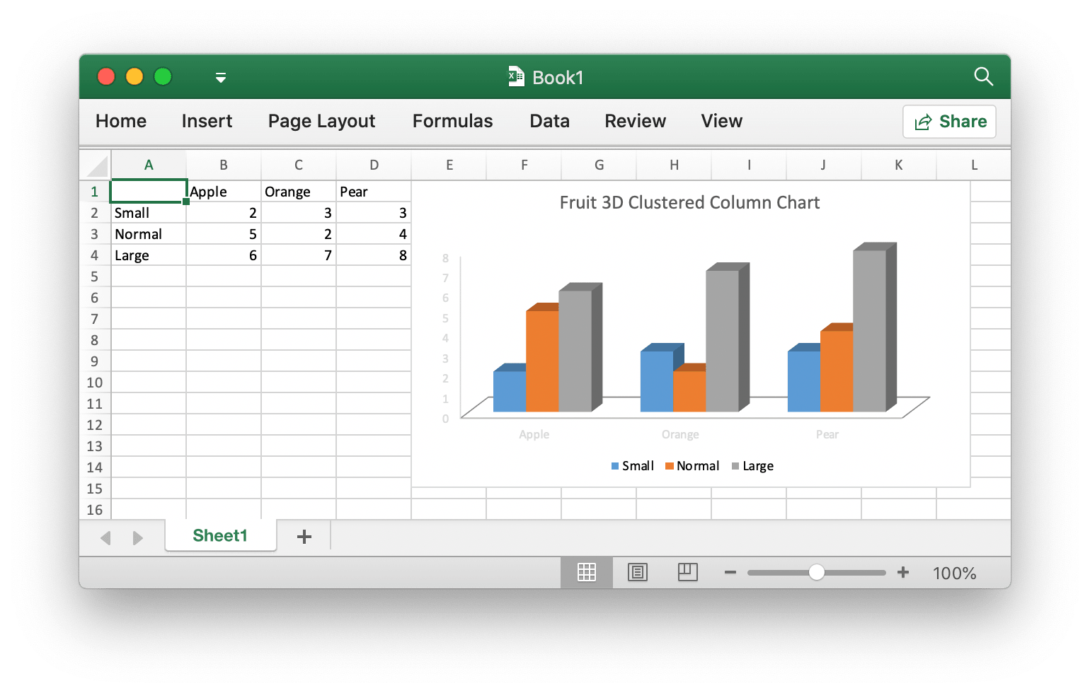 Add chart to Excel document