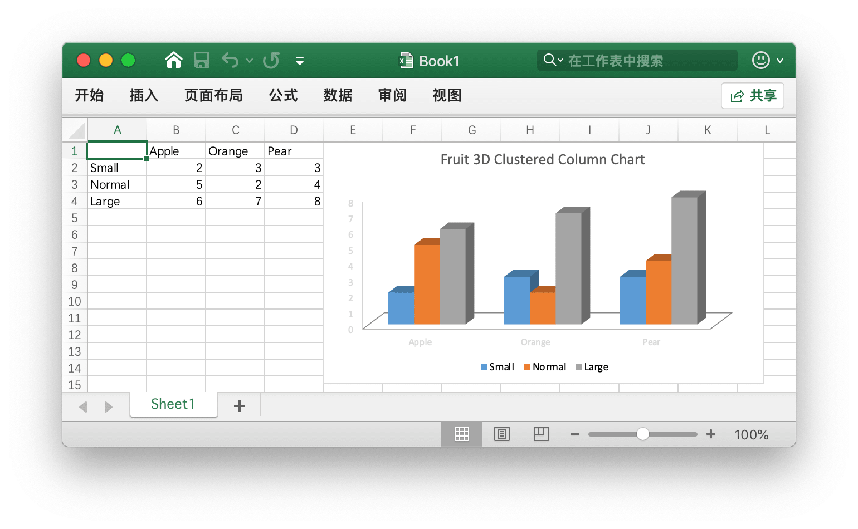 Golang 生成 Excel 图表