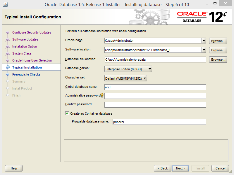 Install Oracle Database 12c on Windows | Ri Xu Online