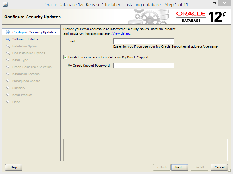 Install Oracle Database 12c on Windows