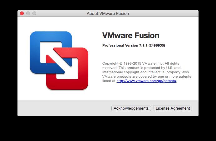 Vmware Fusion Professional