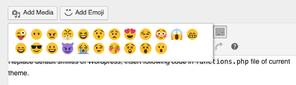 Custom Emoji to WordPress