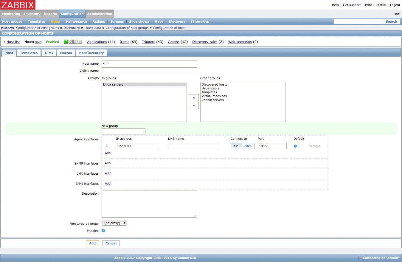 Monitor Servers with Zabbix | Ri Xu Online