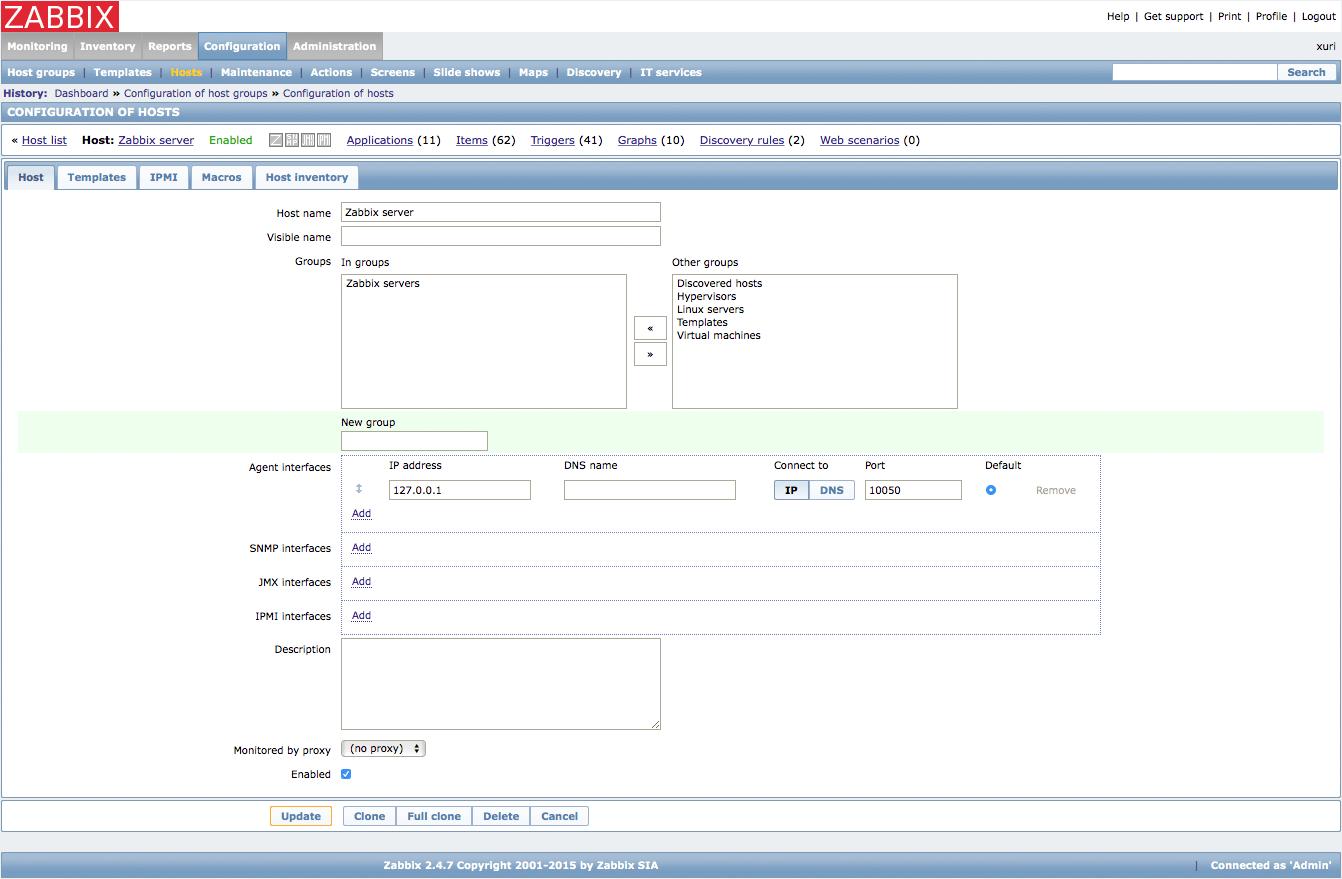 Monitor Servers with Zabbix