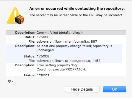 Resolve SVN CornerStone Can't Commit File